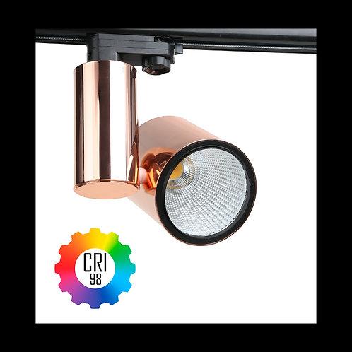 Foco LED para carril TrueColors CRI98 35W Trifásico Cobre