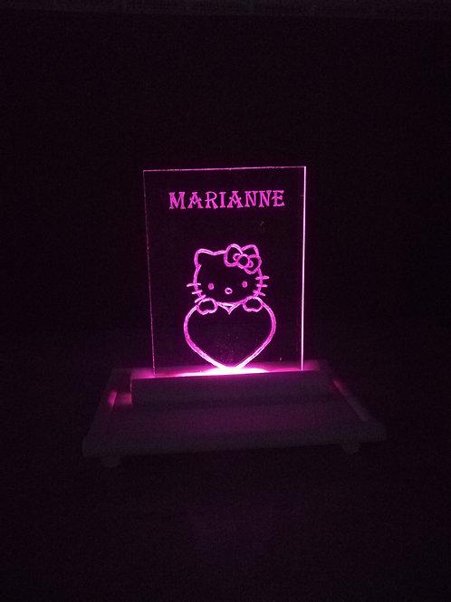 Lámpara de metacrilato Hello Kitty