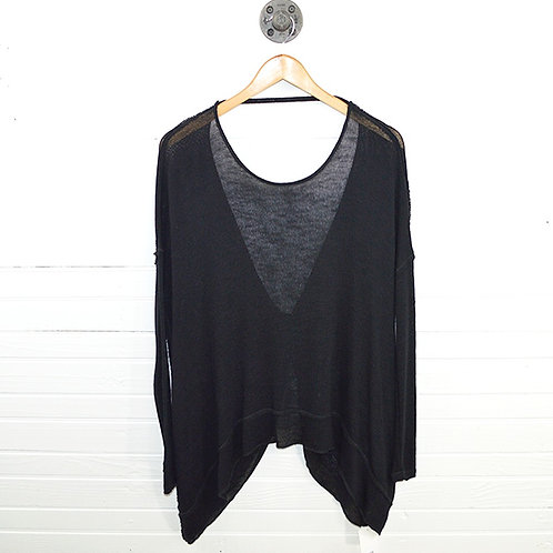 Free People Sheer Tie Back Sweater #123-1721