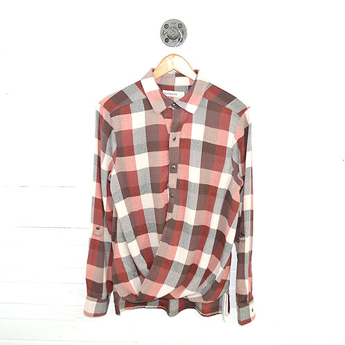 Blank Nyc Plaid Button Down Top #123-1337