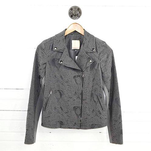 Rebecca Taylor Jacquard Moto Jacket #186-96