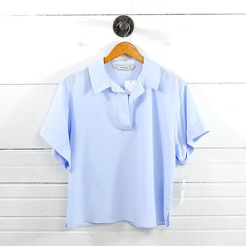 Zara Basic Short Sleeve Blouse #177-1640