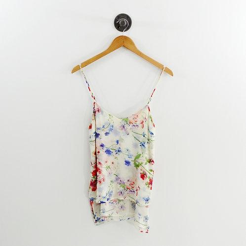 Theory Vaneese Floral Silk Top #135-108