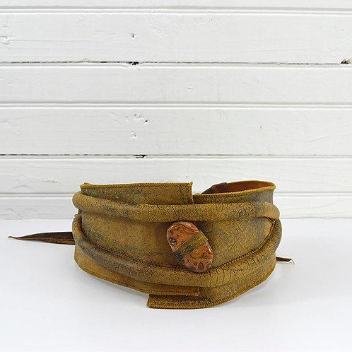 Leather *Vintage* Distressed Tie Belt #170-440