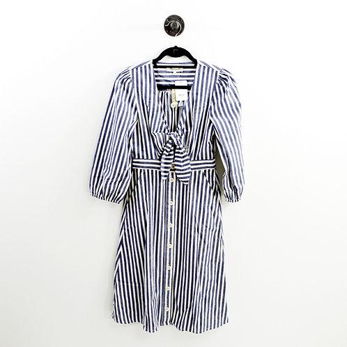 Madewell Striped Cut Out Waist Shirt Dress#123-1227