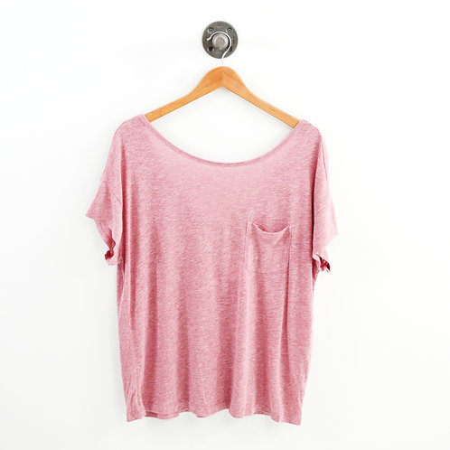 Joie Relaxed Single Pocket T-Shirt #187-63