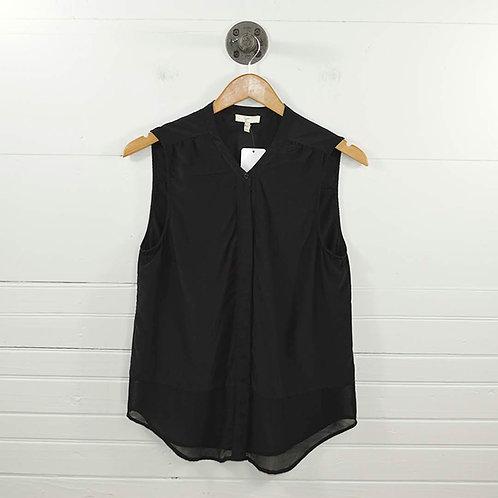 Joie Sheer Hem Silk Blouse #135-46