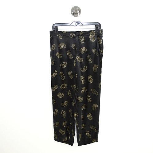 Zara Silky Relaxed Print Pant #143-1896