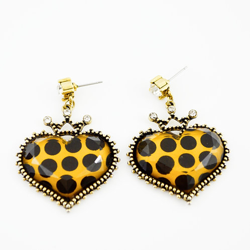 Betsey Johnson Heart Earrings #175-28