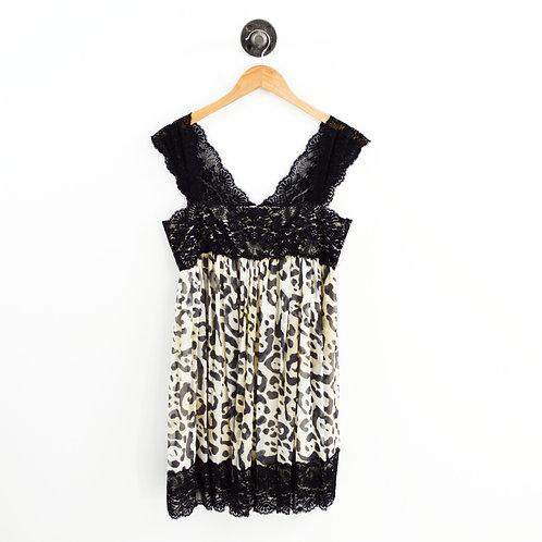 Marchesa Notte Leopard & Lace Dress #195-12
