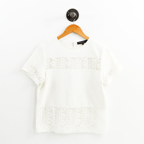 Generation Love Embroidered Cut Out Top #186-124