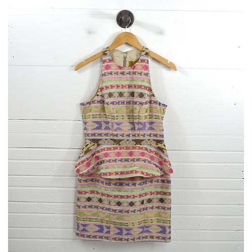 Nicole Miller Peplum Print Dress #175-4