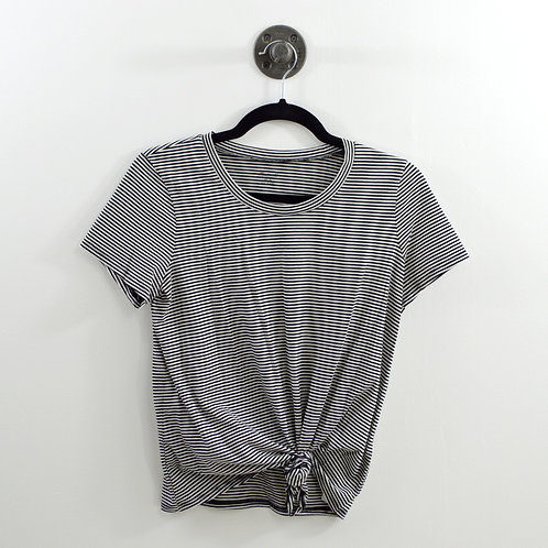 Madewell Striped Tie Front T-shirt #123-1233