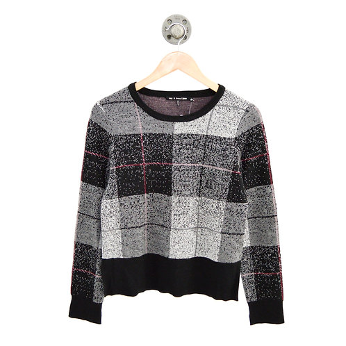 Rag & Bone Plaid Crew Neck Sweater #126-138