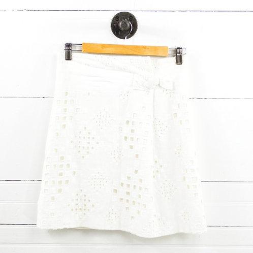 Elie Tahari Linen Eyelet Skirt #169-7