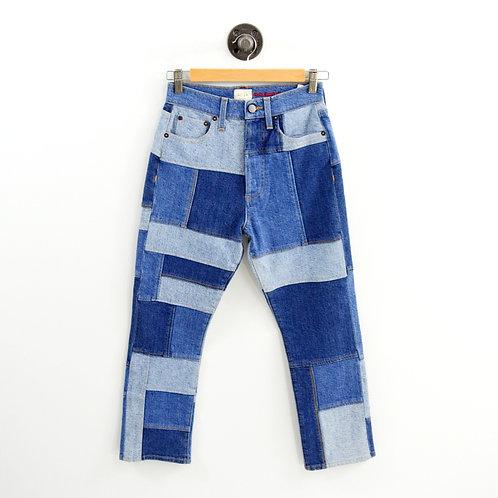 Alice + Olivia Patchwork Denim Jeans #103-10