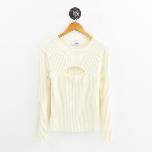 Frame Cut Away Sweater #143-108