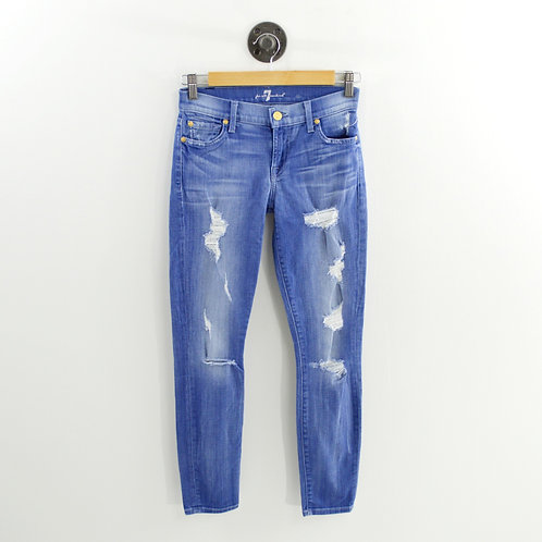 7 For all Mankind The Skinny Distressed Jeans #159-78