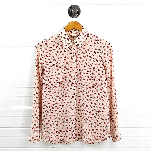 Club Monaco Leopard Silk Button Down #177-127