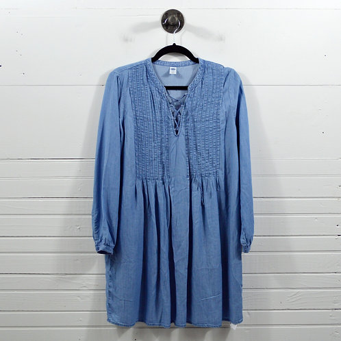 Old Navy Lace Up Chambray Dress #123-1100
