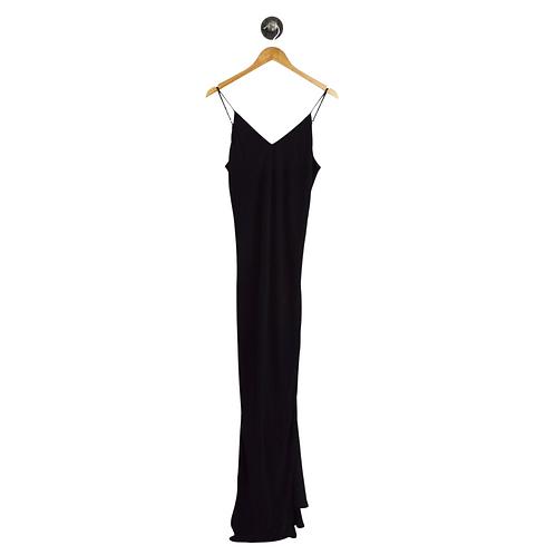 Lavender Brown V-Neck Maxi Dress #192-88