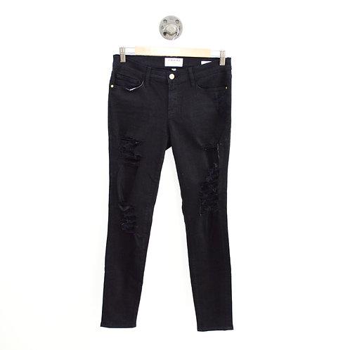 Frame le Skinny de Jeanne distressed Jeans #187-73