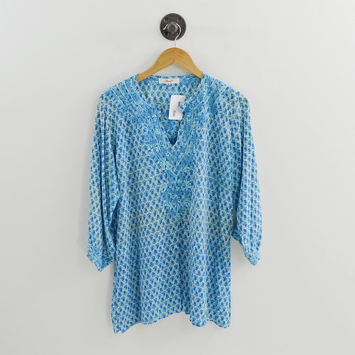 Amaya Embroidered Silk Print Tunic #200-1912