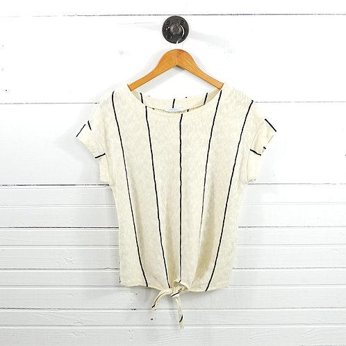 Zara Striped Knit Tie Front Top #177-1633