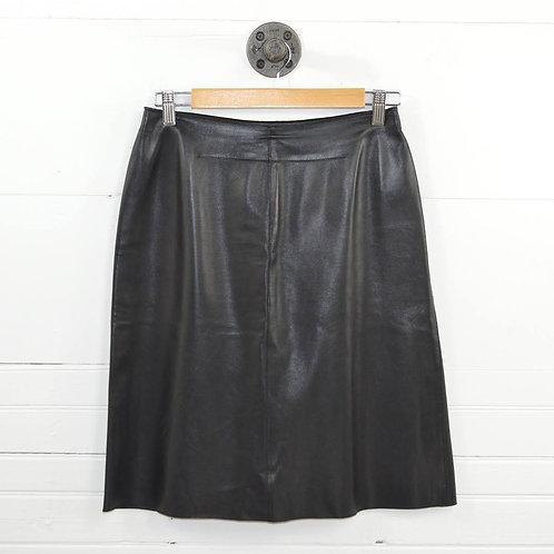 Tahari Leather Pencil Skirt #174-47