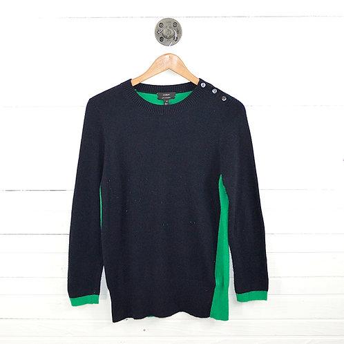 J. Crew Color Block Wool/Cashmere Blend Sweater #106-1020