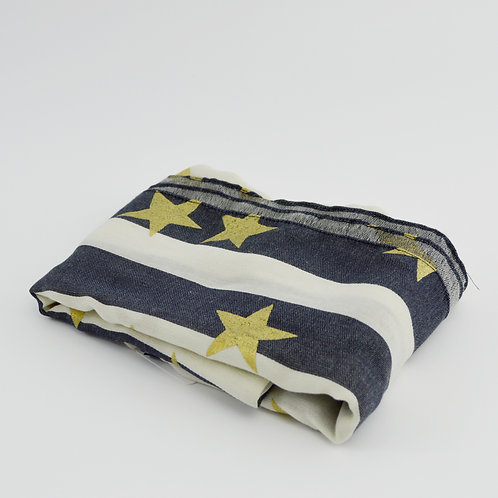 J. Crew Stars & Stripes Print Large Square Scarf #123-1519