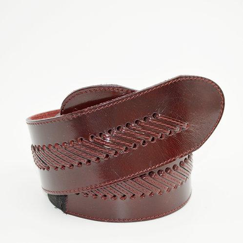Krizia Vintage Leather Waist Belt #170-3078