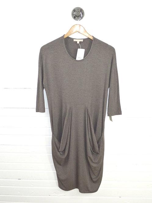 Joan Vass Relaxed Drape Pocket Dress #123-3068