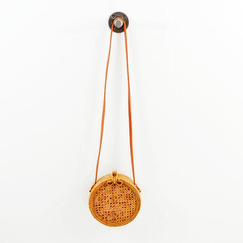 Anthropologie Rattan Circle Bag #194-3098