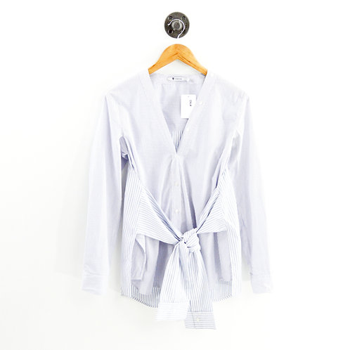 T by Alexander Wang Tie Front Button Down #143-92
