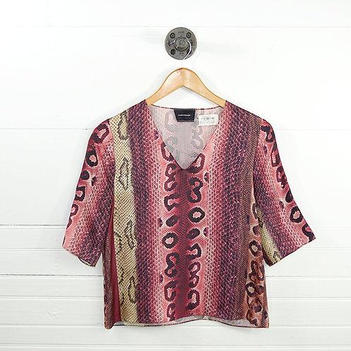 Longchamp Snakeskin Print Silk Blouse #150-69