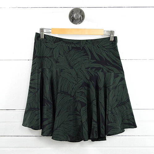 Club Monaco Leaf Print Silk Skirt #177-1599