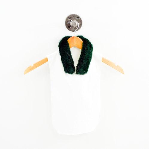 Lela Rose Emerald Fur Collar Dickie #126-149