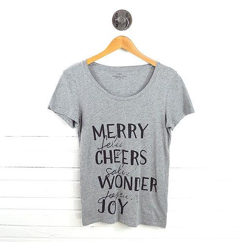 J. Crew Merry Print T-Shirt #123-1208