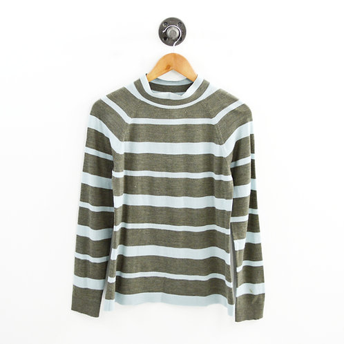 Lela Rose Striped Mock Neck Sweater #169-50