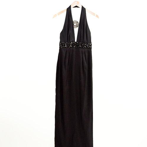 Marchesa Notte Silk Halter Evening Gown #135-173
