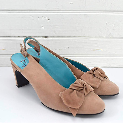 Thierry Rabotin Suede Bow Slingback Pump #170-479