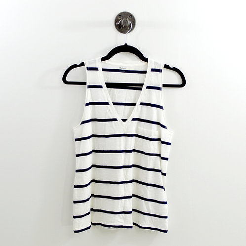 Madewell Striped Muscle V-Neck Tank Top #123-1218