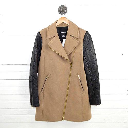 Club Monaco Leather Sleeve Trench Coat #177-154