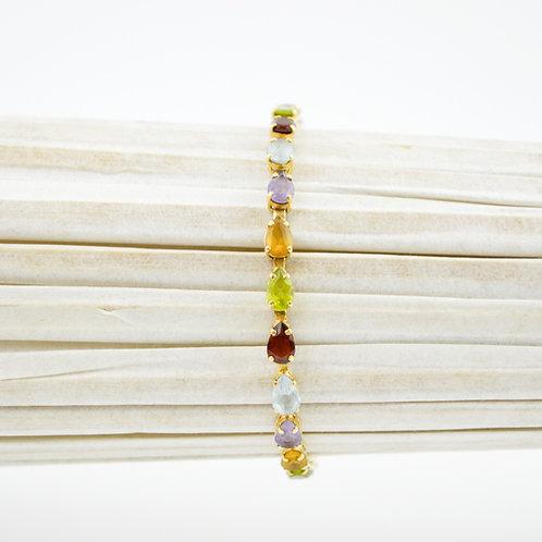 Rainbow Stone Tennis Bracelet #175-30