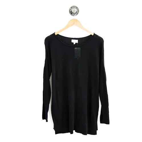 Lou & Grey Sheer Panel L/S Sweater #187-90