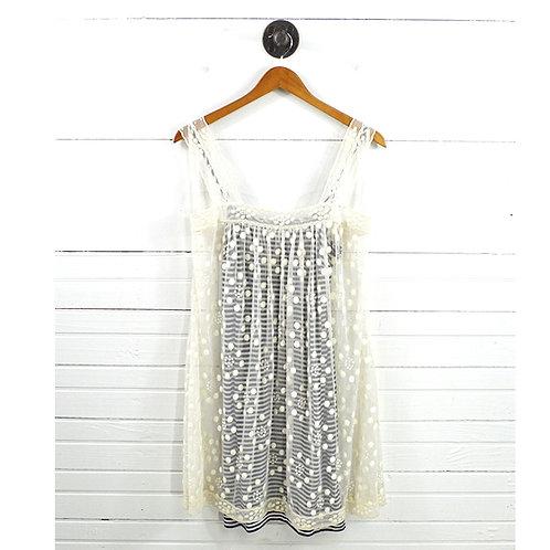 Bcbgmaxazria 2pc Lace/ Stripe Dress #178-1449