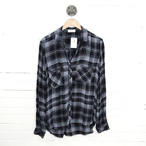 Bella Dahl Plaid Flannel Button Down Top #187-49