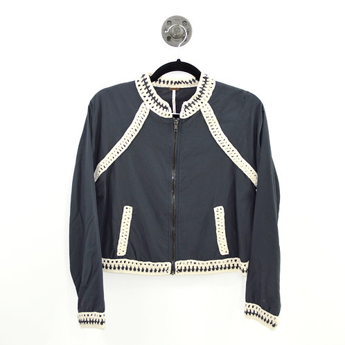Free People Crochet Trim Jacket #189-3010
