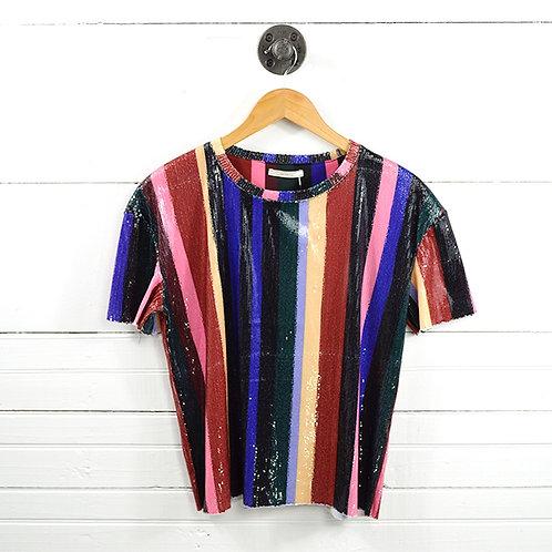 Zara Sequin Striped Top #177-1621